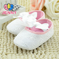 JENNY kid príncipes meninas da fita do laço do bebê recém-nascido primeiros caminhantes infantis suave não-escorregar solas sapatos brancos para 0-1 anos