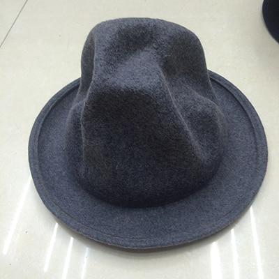 Фирменная Новая модная женская и мужская шерстяная фетровая горная шляпа Фарелл Вильямс Вествуд Стиль Знаменитостей Новинка шляпа в стиле Буффало - Цвет: grey