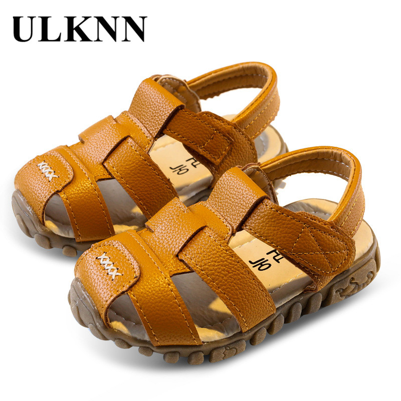 ULKNN Toddle Boys Children Shoes Kids Shoes Cut-Out Flat Sandals Student School Casual Shoes Soft Beach Sandals New Summer 2018
