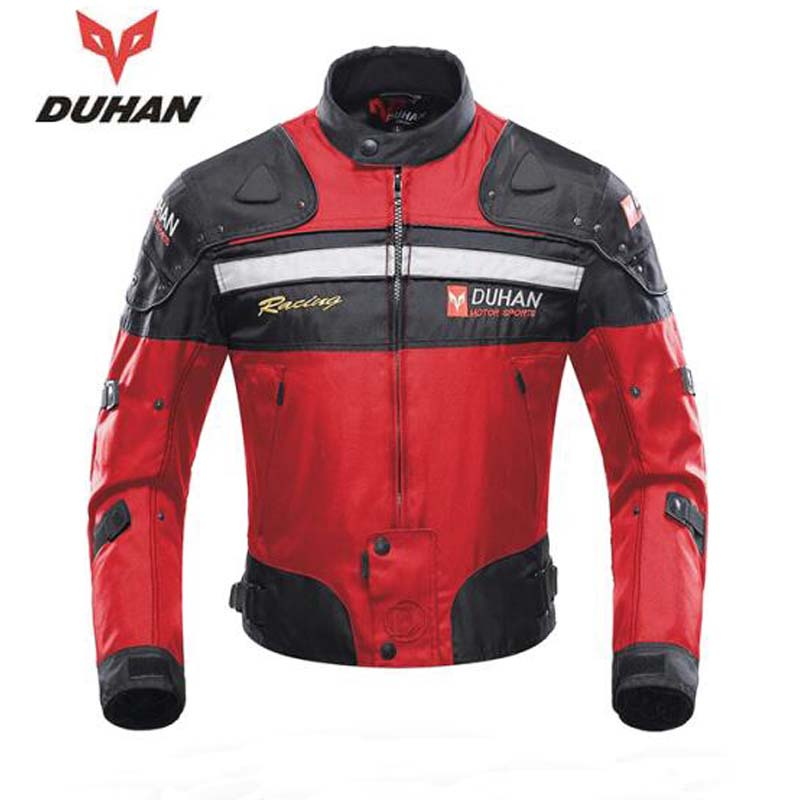 DUHAN Autumn Winter Windproof Oxford fabric Motorcycle Racing Jacket Motorbike Riding Equipment Jacket Moto Protection Clothing