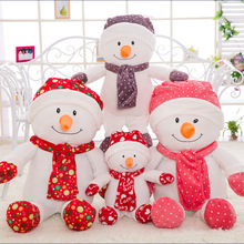 Christmas snowman doll Christmas gift plush toy kids toy