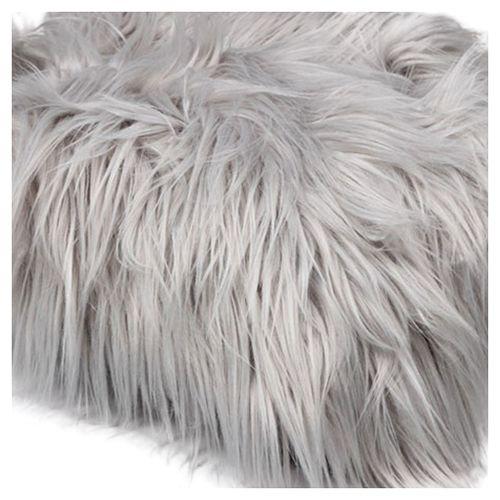 Baby Newborn Faux Fur Photography Photo Props Blanket Basket Stuffer Rug Beanbag Background Backdrop Light Grey