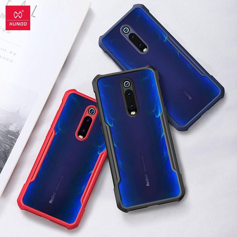 Caixa do telefone para xiaomi redmi K20 pro mi 9T Anel Pro capa Protetora Com Bumper XUNDD Originais redmi Transparente K 20 casos
