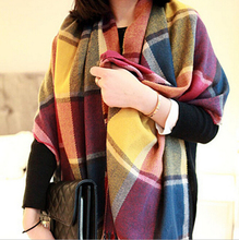 2015  Cashmere Design Triangle Scarf Plaid Fashion Warm in Winter Shawl For Women pashmina shawl