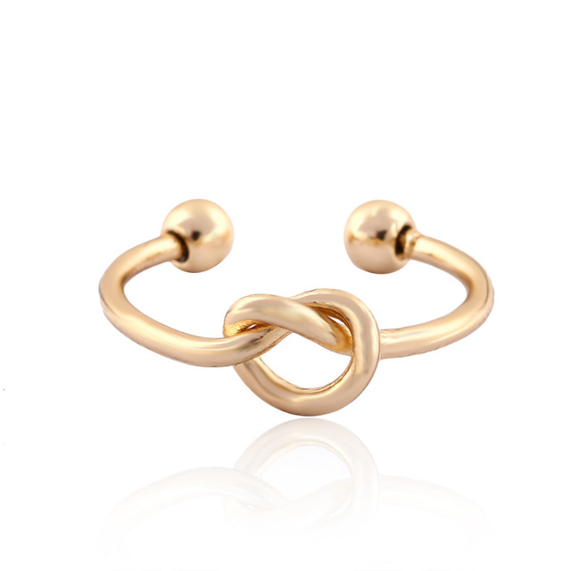Tie Knot Open Ring