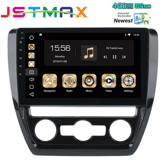 10 2 Android 8 0 Car GPS Radio Player for VW Jetta 2011 2012 2013 2014