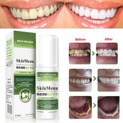 New Arrival Green Tea Essence Teeth Cleaning Mousse Fresh Tone Remove Tooth Stain Teeth Whitening Oral Cleaning Care 60ml TSLM2
