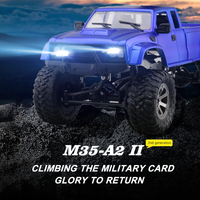 2018 New Military RC Truck JD 002 1:16 2.4G 80M 4WD Four Wheel Drive Crawler Heavy Duty Truck Charging Electric model Boy Toy