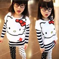 cute hello kitty children sets girls tops fashion style kids clothes girls clothes sweet girls clothing 2 pieces set