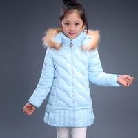 2018 Winter Children's Clothing Kids Down Cotton Outerwear Girls Wadded Jacket Child medium long Thickening Cotton padded Coat