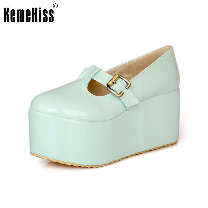 free shipping high heel wedge shoes platform fashion women dress sexy heels pumps P10765 hot sale EUR size 34-43 цены онлайн