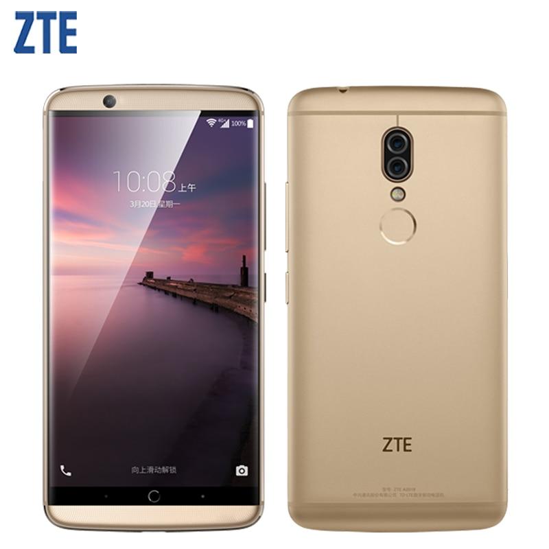 Original ZTE Axon 7S A2018 Mobile Phone 5.5inch 4GB RAM 128GB ROM Snapdragon 821 Quad Core Dual Cameras Fingerprint Smartphone