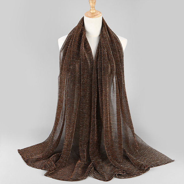 NEW shimmer pleated hijab scarf  1