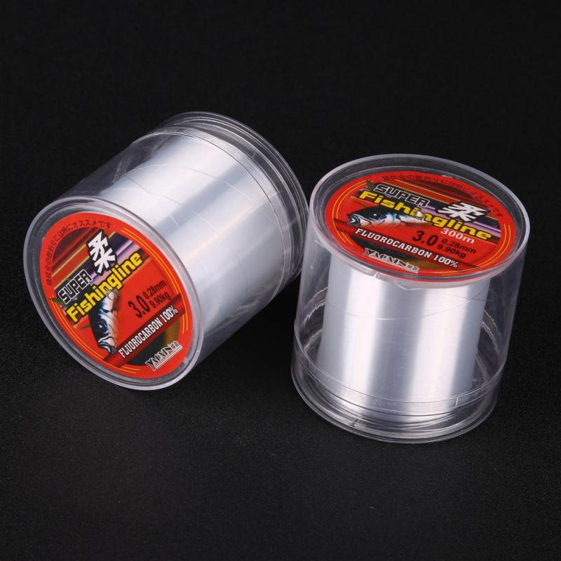 100% Transparent Fishing 100/150/200/300/500M Super Strong Nylon Not Fluorocarbon Tackle Non-Linen Multifilament Fishing Line