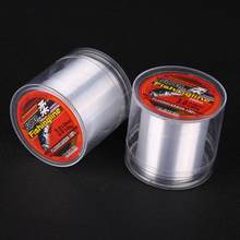 100% transparent Fishing Line 100/150/200/300/500M Super Strong Nylon Not Fluorocarbon Tackle Non-Linen Multifilament Fishing e(China)