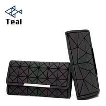 Women Wallets Purse Luminous Wallet Brand Design Long Geometric Patterns Ladies Clutch Card Holder Large Capacity