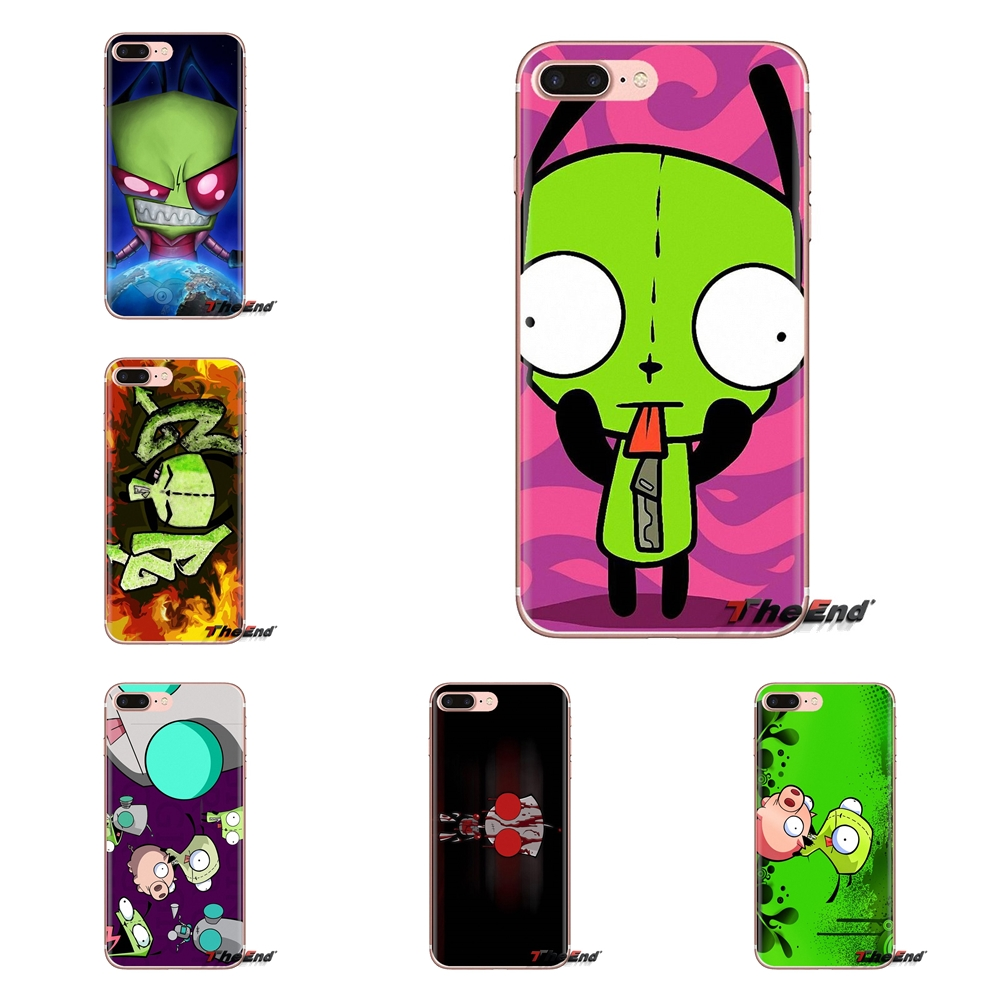 Gir Invader Zim Wallpaper Print Transparent Soft Skin Case For Ipod Touch Apple Iphone 4 4s 5 5s Se 5c 6 6s 7 8 X Xr Xs Plus Max Fitted Cases Aliexpress