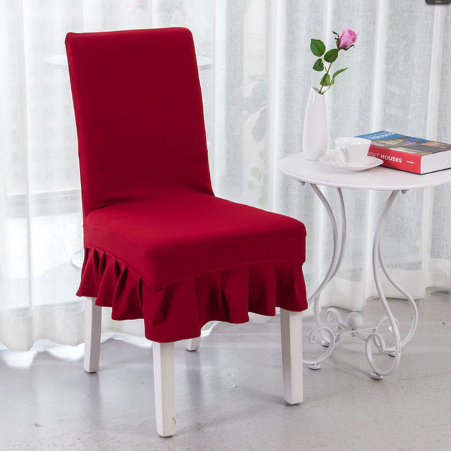 burgundy chair covers wedding wingback office desk polyester elastic spandex short skirt weddings party dining decoration v20