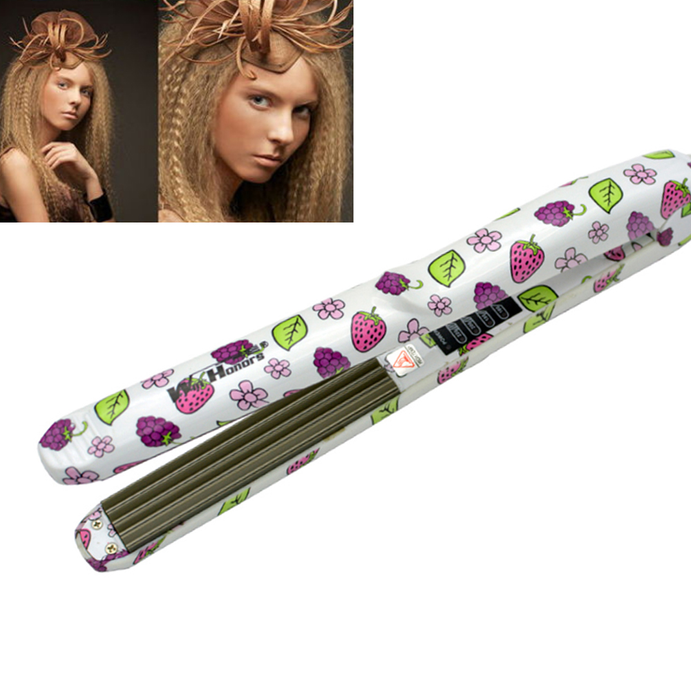 Professional corrugated iron Electric Wave Hair Straightener Straightening Corrugated Iron Hair Crimper Corn Plate Styling Tools ckeyin 110 240v electric straightening iron ceramic corrugated hair crimper straightener corn plate fast straight hair flat iron