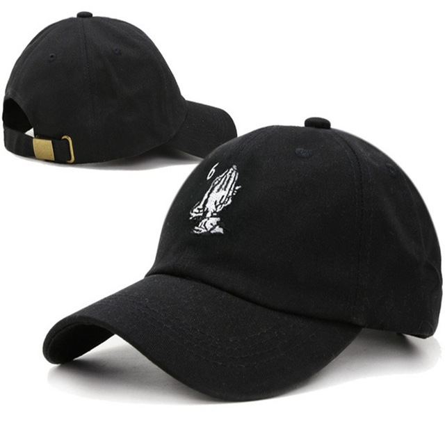 2017 New Dad Hat Womens Mens Cap Hat Drake 6 God Pray Cap casual Baseball  Cap Black Snapback Street Hip Hop Praying Cap hat e0cd8387c7f
