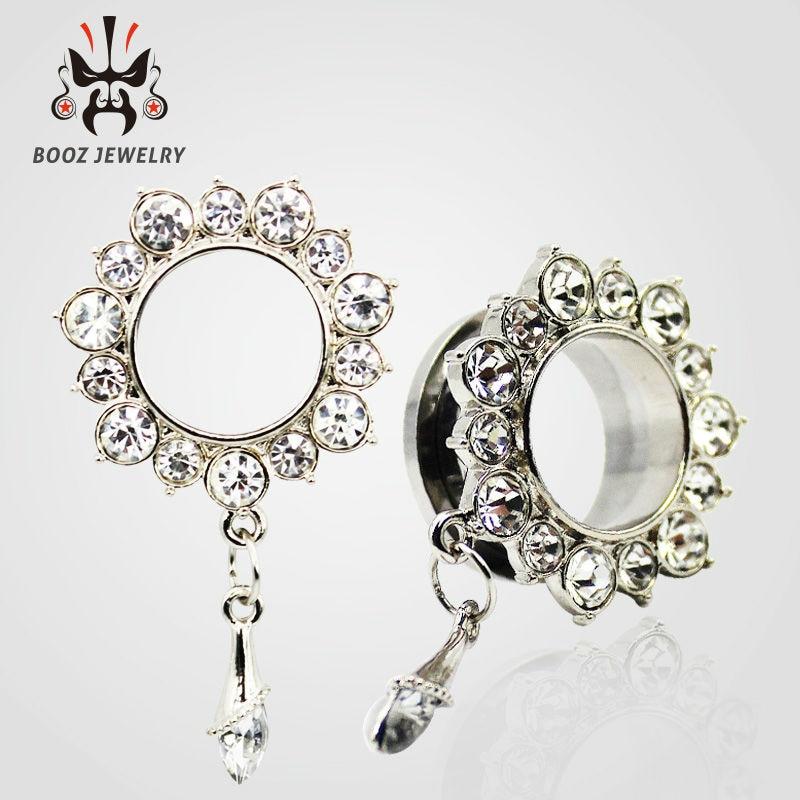 KUBOOZ 10 PCS Menjuntai Crystalar Ear Piercing Cincin Tandu Stainless - Perhiasan fashion - Foto 3