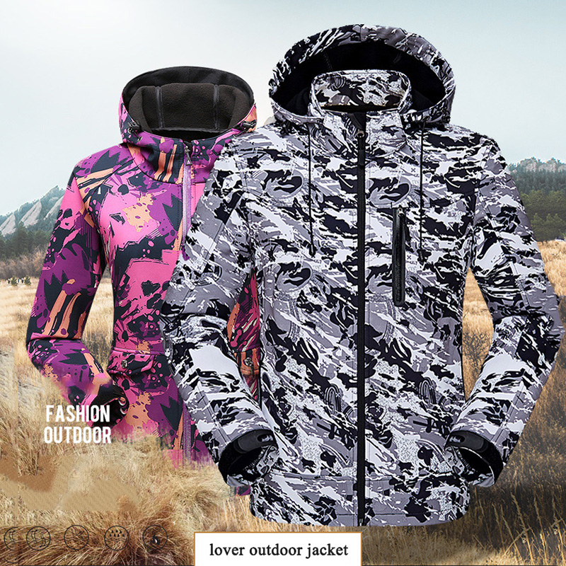 Outdoor Men Ski Jacket Waterproof Super Warm Camouflage Breathable Skiing Hiking Jacket Winter Windproof Snowboard Ski