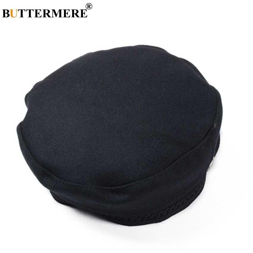 قبعة باترمير جاتسبي للسيدات من الصوف الأسود بيكر قبعة بوي مسطحة للسيدات أنيقة برسم فرنسي قبعة للربيع قبعات كلاسيكية لصبي الصحف