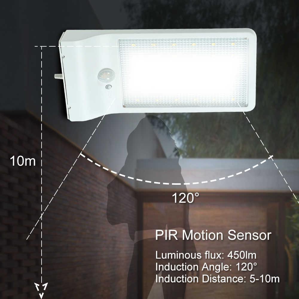 36 светодиодный уличный Солнечный Сенсор светодиодный свет движения PIR Сенсор безопасности настенный светильник для внутренний дворик Патио садовой дорожки подъездной дорожки Лестницы