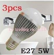 3pcs/lot 5W E27 Bubble Ball Bulb led light spotlight,white/Warm white,free shipping