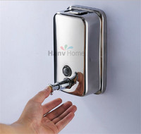 High Quality 500ML Wall Mounted Stainless Steel Hand Shower Liquid Soap Dispenser 10 011A Free Shipping