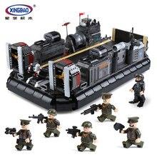 XingBao 06019 Genuine 3006Pcs Military Series The Amphibious Transport Ship Set Building Blocks Bricks Toys Model for boys Gifts