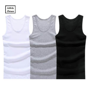 Underwear Tank-Top Muscle-Vest Gymclothing Hot-Sale Cotton Mens Solid Sleeveless 3pcs/Lot