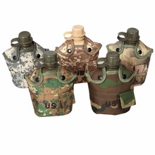 1L Camouflage Kettle Water Bottle For Outdoor Sports Camping Hiking NEW