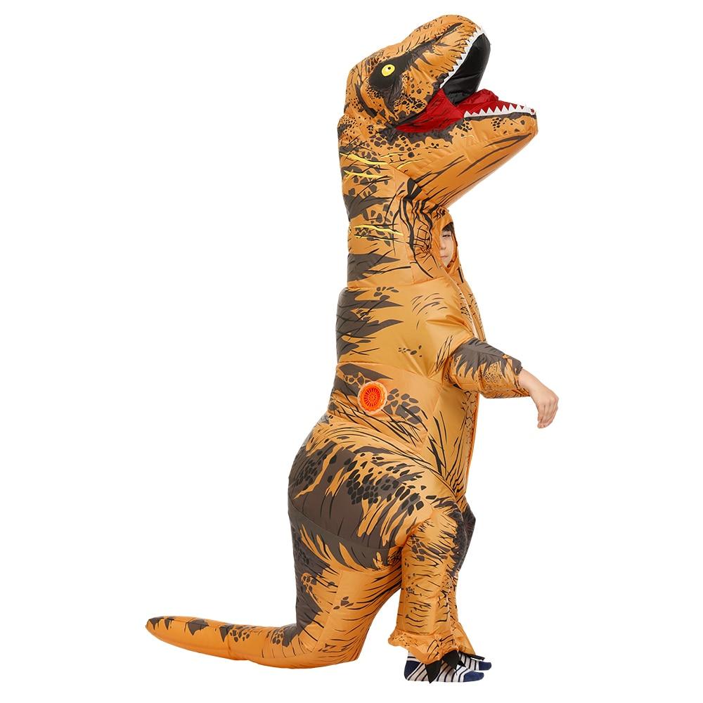 Kids Inflatable Dinosaur Dino Jurassic World Park Characters Fancy Dress T REX Costume Halloween Cosplay Boys