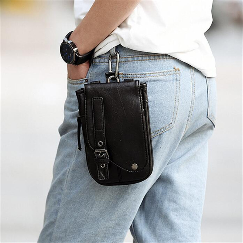Mens Bag 2016 New Men PU Leather Vintage Travel Cell Mobile Phone Smoke Case Cover Belt Hook Purse bolsa feminina classic femal long black wigs with neat bangs synthetic hair wigs for black women african american straight full wigs false hair