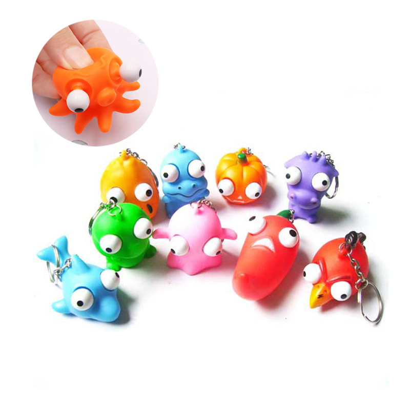 2PCS Cartoon Animal Stress Relief Squeeze Toys Squishy Gigante Toys For Children Funny Toys Novelty Anti-stress Jokes Gadgets