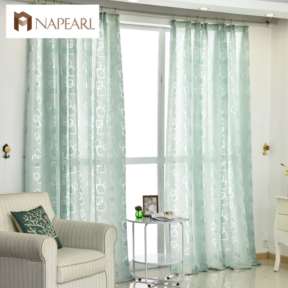 modern curtain geometric design living room curtains fabric black green ready made curtain window treatments brand