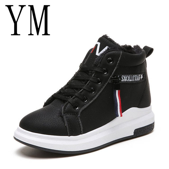 2018 Flock New High Heel Lady Casual black/Red Women Sneakers Leisure Platform Shoes Breathable Height Increasing Shoes 56