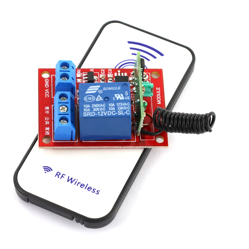 12V 1-Channal RF Wireless Relay Module With Remote Control 15-30m Distance Water Sports Rowing Boats Dinghy Accessories
