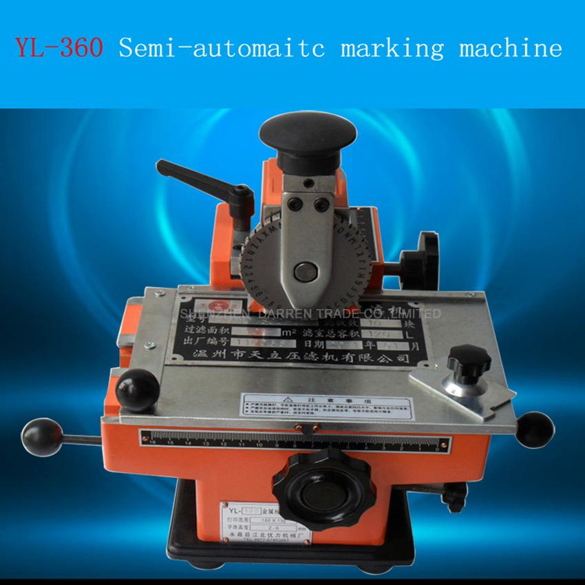 Machine de marquage manuelle semi-automatique de YL-360, machine de codage d'étiquetage en aluminium, imprimante d'étiquettes de paramètre d'équipement