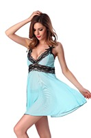 Millyn On sale lingerie sexy fashion style super deal lace lingerie blue halter front open sexi woman lingerie S M L XL XXL