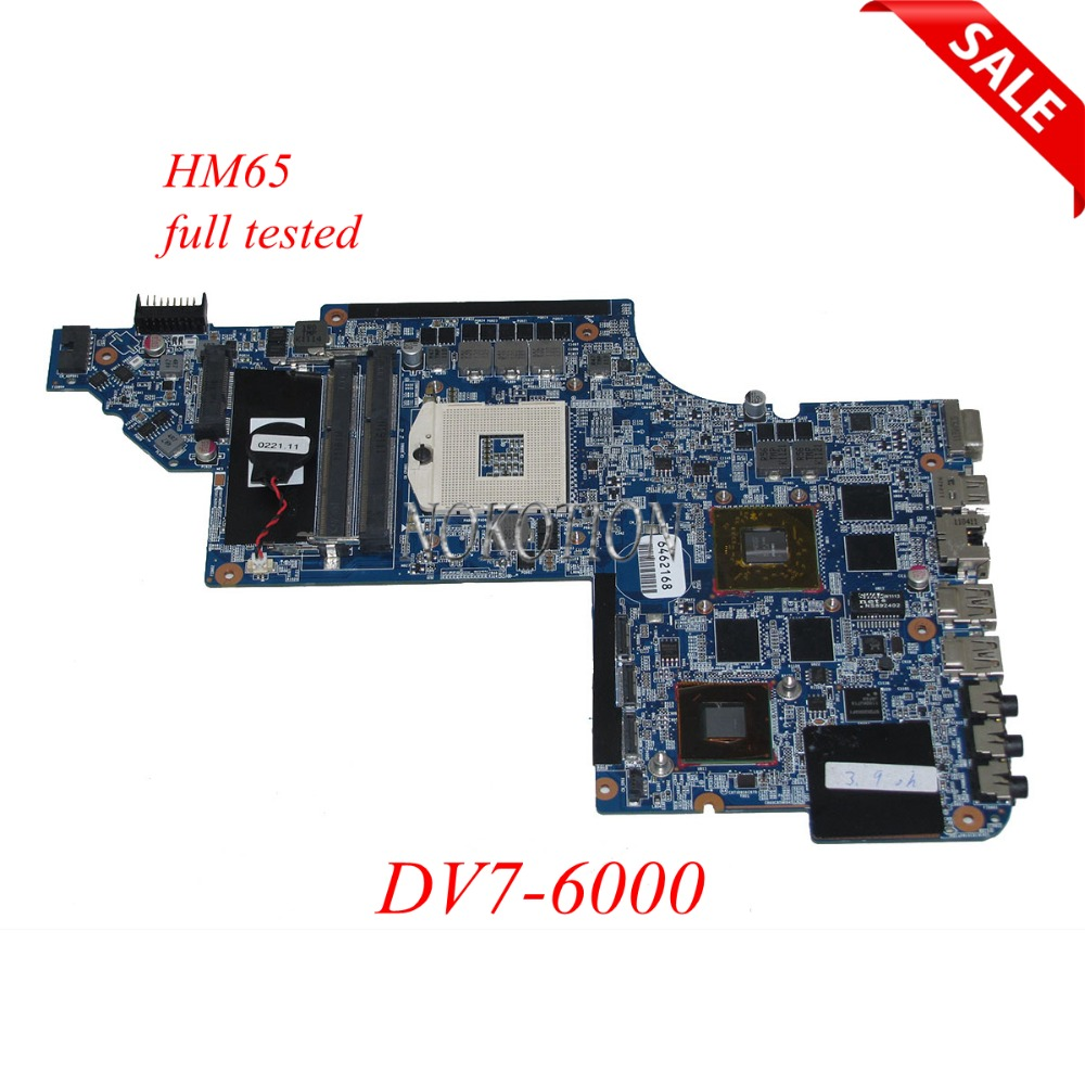 NOKOTION 659095-001 Laptop Motherboard for hp DV7-6000 HM65 ddr3 HD 6770M Graphics Mainboard full tested nokotion 658341 001 laptop motherbopard for hp 4530s 4730s hm65 hd graphics mother boards mainboard full tested warranty 60 days