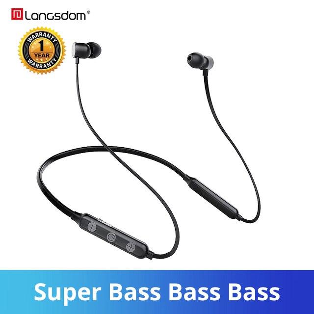 Langsdom BX9 سماعات لاسلكية بشريط حول الرقبة سماعات رياضية مزودة بتقنية البلوتوث سماعات أذن مزودة بخاصية البلوتوث 12h سماعات موسيقى للهاتف