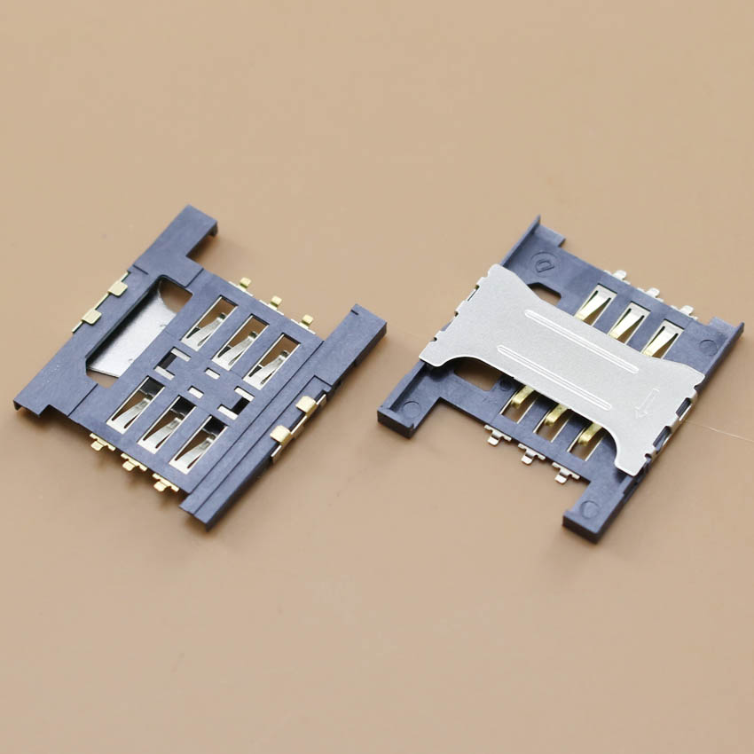 YuXi Best Price, 1pcs/lot Sim Card Socket Holder Connector For Lenovo A568t A788t K860I A3000-H A5000 Tray Slot.