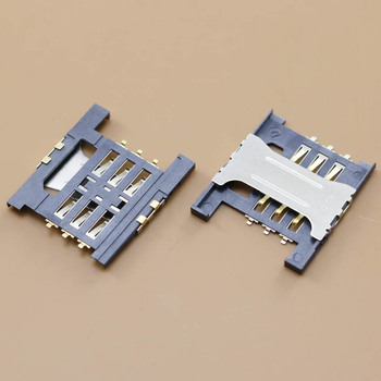 YuXi Best Price, 1pcs/lot sim card socket holder connector for Lenovo A568t A788t K860I A3000-H A5000 tray slot. image