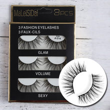 06fa846c4b3 3Pairs Natural False Eyelashes 3D Mink Fake Eye Lashes Long Makeup Extension  Tools wimpers eyelashes Beauty maquiagem lashes