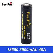 Bestfire Original 18650 3.7V Li-ion Battery Lithium Bateria Rechargeable Battery 3500 mAh 40A Battery Electronic Cigarette B045