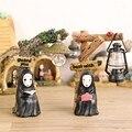 Japonés Anime Studio Ghibli Kaonashi Miyazaki Hayao Chihiro No Face Night Led Muñeca de Resina Figura de Acción Juguetes Para Niños