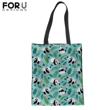 FORUDESIGNS Animal Shopping Tote Bag Casual Canvas Satchel Handbag For Lady Women Customize Image Shoulder Bags