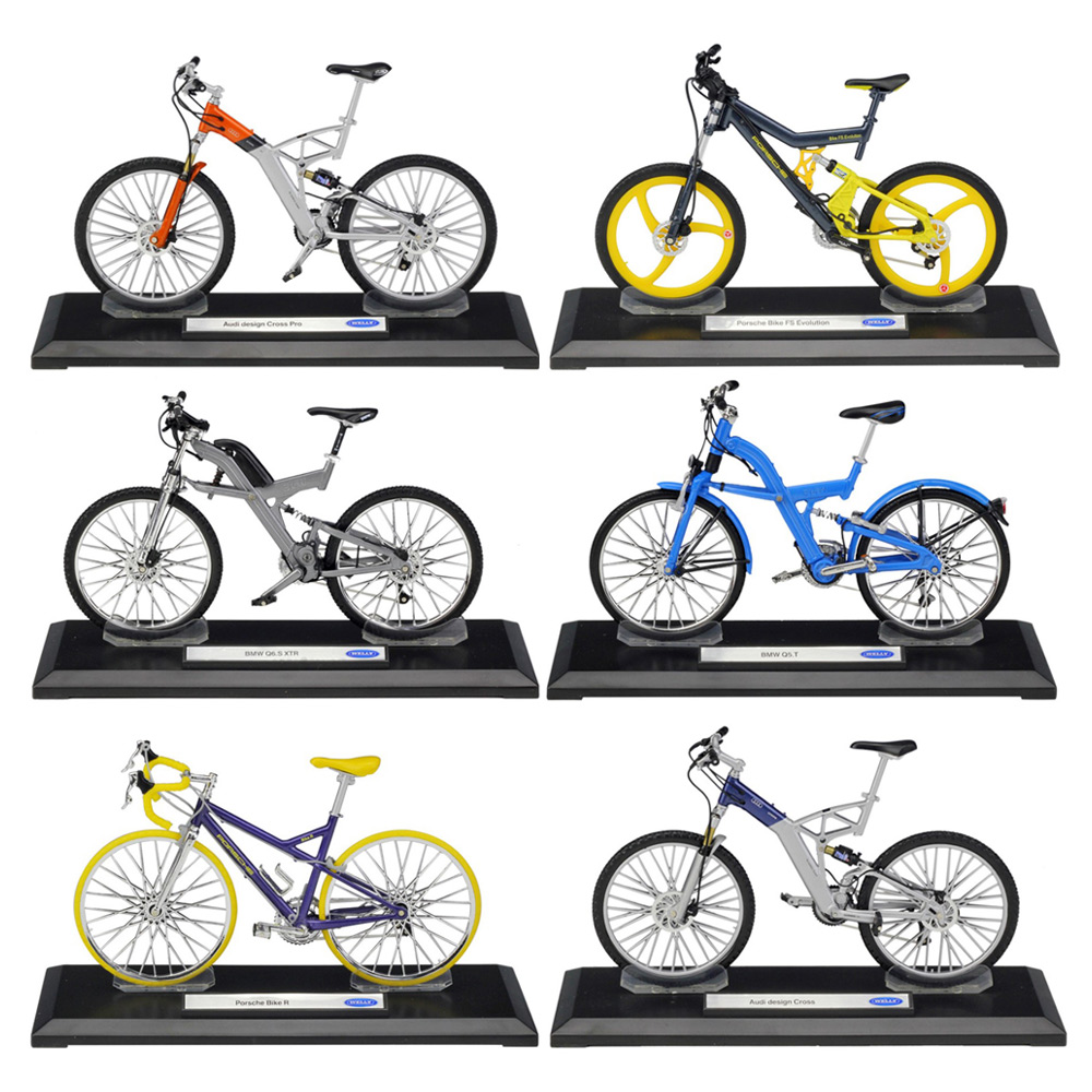 WELLY Cycling 1:10 Scale Metal Model PorscheBike Audi/BMWQ5 Mountain Bike Alloy Bicycle Collection Friend's Gift